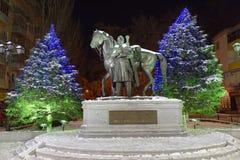 Zabytek bohater Patriotyczna wojna 1812-1814 M Ja Platov Obraz Royalty Free