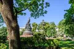 Zabytek Catherine II w St Petersburg Zdjęcie Royalty Free