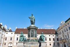 Zabytek cesarz Franz Ja w Wiedeń, Austria Fotografia Stock