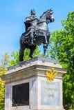 Zabytek cesarz Peter Wielki, Petersburg, Rosja Obraz Stock