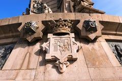 Zabytek Christopher Kolumb, Barcelona - Obraz Royalty Free