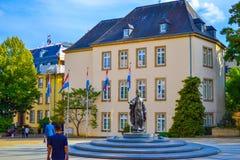 Zabytek Duchess Charlotte na miejscu De Clairefontaine w Luksemburg mieście, Luksemburg obraz royalty free
