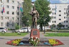 Zabytek fotoreporter Aleksander Efremov w Tobolsk, Rosja Zdjęcia Stock
