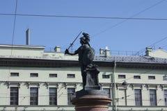 Zabytek Generalissimo Aleksander Suvorov w Petersburg obrazy royalty free