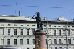 Zabytek Generalissimo Aleksander Suvorov w Petersburg fotografia stock