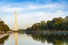 Zabytek George Washington i national mall w Waszyngtoński d C zdjęcie royalty free