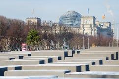 Zabytek holokaust w Berlin Fotografia Royalty Free