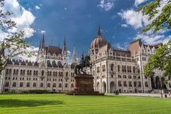 Zabytek i architektura hungarian parlament Obrazy Royalty Free