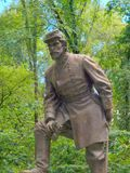 Zabytek i statua Gen Patrick Cleburne zdjęcie stock
