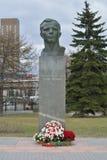 Zabytek Juriy Gagarin obok Astronautycznego muzeum Zdjęcie Royalty Free