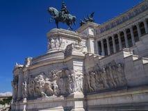 Zabytek królewiątko Vittorio Emanuele 2 w piazza Venezia w Rzym zdjęcia royalty free