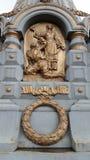 Zabytek ku pamięci spadać w bitwie Plevna grenadiery na terenie Ilyinskie Vorota Obraz Royalty Free