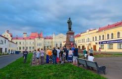 Zabytek Lenin na placu czerwonym, Rybinsk, Rosja Obraz Royalty Free