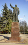 Zabytek Lenin w Kimry Tver Oblast Rosja obrazy royalty free