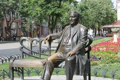 Zabytek Leonid Utyosov w Odessa Zdjęcia Royalty Free