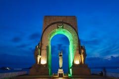 Zabytek lokalizujący na corniche w Marseille, Francja dedykował nieboszczyk Wschodni wojsko odległe ziemie i, wewnątrz obrazy stock