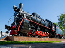 Zabytek lokomotywa typ 0-5-0 serie przy Voronezh-1 stacją Er Obrazy Royalty Free