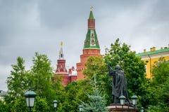 Zabytek m?czennik Hermogenes przy Moskwa Kremlin, Rosja zdjęcia royalty free