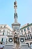 Zabytek męczennicy w Napoli, Włochy Zdjęcia Royalty Free