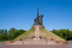 Zabytek Militarna chwała Wiecznie płomień w parkowym zwycięstwie Cheboksary, Chuvash republika, Rosja 06/01/2016 Obraz Royalty Free