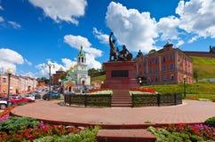Zabytek Minin i Pozharsky przy Nizhny Novgorod Fotografia Stock