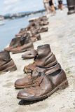 Zabytek ofiary holokaust w Budapest zdjęcia stock