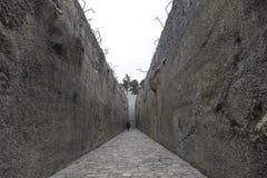 Zabytek ofiary Nazistowski Niemiecki eksterminacja obóz, Belzec, Polska obraz stock