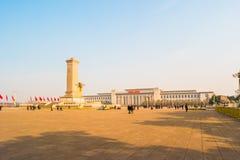 Zabytek osoba bohaterzy na Tian'anmen kwadracie, Pekin fotografia royalty free