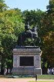 Zabytek Peter Wielki blisko Mikhailovsky kasztelu w St Petersburg Fotografia Royalty Free
