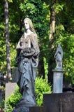 zabytek, postać opłakiwać kobiety cmentarniane Zdjęcie Royalty Free