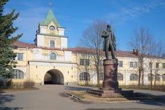 Zabytek profesor Dokuchaev przy historycznym budynkiem Agrarny uniwersytet Tsarskoye Selo Fotografia Stock