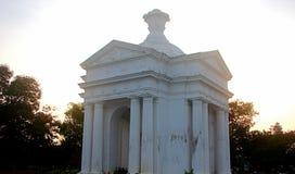 Zabytek przy Bharathi parkiem, Pondicherry, India Obraz Royalty Free