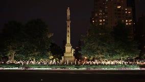 Zabytek przy Kolumb okręgiem Obraz Royalty Free