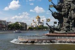 Zabytek Rosyjski car Peter Wielki na obwodnica kanale o fotografia stock