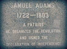 Zabytek Samuel Adams Zdjęcie Royalty Free