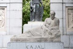 Zabytek Santiago Ramon y Cajal Zdjęcie Stock