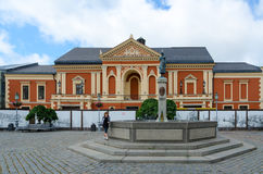 Zabytek Simon Dach przy dramata Theatre, Klaipeda, Lithuania Obraz Stock