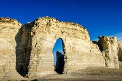 Zabytek skały kredy ostrosłupy Fotografia Royalty Free