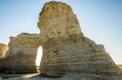 Zabytek skały kredy ostrosłupy Zdjęcia Royalty Free