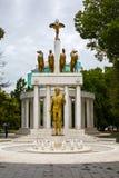Zabytek spadać bohaterzy w Skopje, Macedonia Obraz Stock