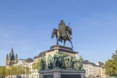 Zabytek w centrum Kolonia Kaiser Freidrich Wilhelm przy Heu Zdjęcie Royalty Free