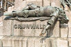 Zabytek w Krakow dedykował bitwa Grunwald Obrazy Stock