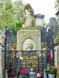 Zabytek w Paryski cementary Obrazy Stock