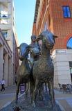 Zabytek w paternoster swuare przedstawia starego newgate rynek, Londyn 2017 Obrazy Stock
