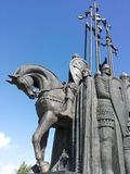 Zabytek w Pskov Aleksander Nevsky Zdjęcie Stock