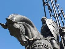 Zabytek w Pskov Aleksander Nevsky Obraz Royalty Free