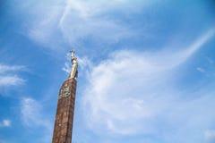 Zabytek widzieć spod spodu Wiecznie chwała, jeden główni punkty zwrotni miasto, dedykujący druga wojna światowa żołnierzy obraz stock