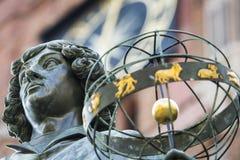 Zabytek wielki astronom Nicolaus Copernicus, Toruński, Polska Fotografia Royalty Free