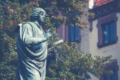Zabytek wielki astronom Nicolaus Copernicus, Toruński, Polska Zdjęcie Royalty Free