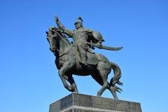 Zabytek wojenny bohater BATYR BOGENBAI w Astana zdjęcia stock